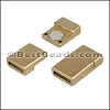 10mm flat ACRYLIC magnet MATTE GOLD - per 10 clasps