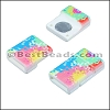 10mm flat ACRYLIC PATTERN magnet STYLE 10 - per 10 clasps