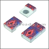 10mm flat ACRYLIC PATTERN magnet STYLE 6 - per 10 clasps