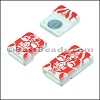 10mm flat ACRYLIC PATTERN magnet STYLE 8 - per 10 clasps