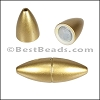 1.5mm round ACRYLIC magnet MATTE GOLD - per 10 clasps