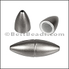 1.5mm round ACRYLIC magnet MATTE GUNMETAL - per 10 clasps