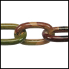 aluminum link chain CAMOUFLAGE  per 25 feet (13.5mm link)