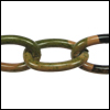 aluminum link chain CAMOUFLAGE  per 25 feet