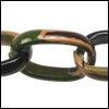 aluminum link chain CAMOUFLAGE  per 25 feet (23mm link)
