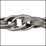 CH-172<br>Woven Etched Rope chain