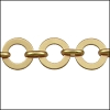 washer chain MATTE GOLD - per 25ft spool