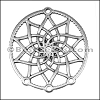 LARGE DREAMCATCHER euro charm ANT SILVER - per 10 pieces