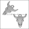 BULL HEAD charm per 20 pieces ANT SILVER