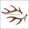 DEER HORNS euro charm ANT COPPER- per 10 pieces