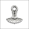 dress pendant charm per 20 pieces ANT. SILVER