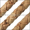 10mm round BRAIDED CORK NATURAL - per 2 meters