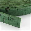 10mm flat CORK GRASS GREEN - per 2 meters