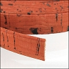 10mm flat CORK ORANGE - per 2 meters