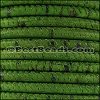 5mm round CORK OLIVE GREEN - per 10 feet