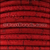 5mm round CORK RED - per 10 feet