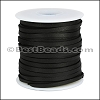 1/8 inch Deerskin Lace BLACK - per 50ft SPOOL