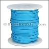 1/8 inch Deerskin Lace TURQUOISE - per 50ft SPOOL