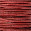 3mm round Euro leather BURNT RED - per 25m SPOOL
