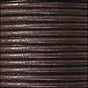 3mm round Euro leather BROWN - per 25m SPOOL