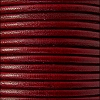 3mm round Euro leather BORDEAUX - per 25m SPOOL