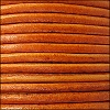 3mm round Euro leather DISTRESSED ORANGE - per 25m SPOOL