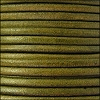 3mm round Euro leather DISTRESSED GREEN - per 25m SPOOL