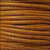1.5mm round Euro leather CAMEL - per 25m SPOOL