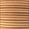 3mm round Euro leather NATURAL - per 25m SPOOL