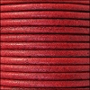 3mm round Euro leather DISTRESSED RED - per 25m SPOOL