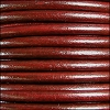 3mm round Euro leather WHISKEY - per 25m SPOOL