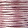 4.5mm round Euro leather METALLIC ROSE - per 20m SPOOL
