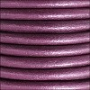 3mm round Euro leather METALLIC ORCHID - per 25m SPOOL