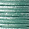 4.5mm round Euro leather METALLIC TURQUOISE - per 20m SPOOL