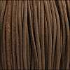 3mm round SUEDE Euro leather BROWN - per 25m SPOOL