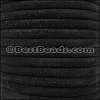 5mm Round SUEDE Leather BLACK - per 10 feet
