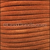 5mm Round SUEDE Leather CAMEL - per 10 feet