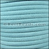 5mm Round SUEDE Leather BABY BLUE - per 10 feet
