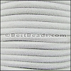 5mm Round SUEDE Leather WHITE - per 10 feet