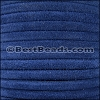 5mm Round SUEDE Leather ROYAL BLUE - per 10 feet