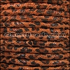 5mm Round SUEDE Leather TAN LEOPARD - per 10 feet