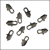 14mm x 5mm Oval Lobster Clasp MATTE GUNMETAL - per 100 pieces