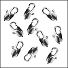 14mm x 5mm Oval Lobster Clasp SILVER PLATED - per 100 pieces
