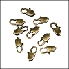 14mm x 5mm Oval Lobster Clasp ANT BRASS - per 100 pieces