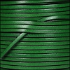 3mm flat leather BOTTLE GREEN - per 5 meters