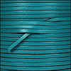 3mm flat leather TURQUOISE - per 5 meters