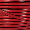 5mm flat leather RED - per 5 meters