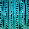 10mm flat CRYSTAL leather TURQUOISE - per 1 meter