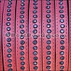10mm flat CRYSTAL leather PINK - per 1 meter