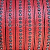 10mm flat CRYSTAL leather RED - per 10m SPOOL